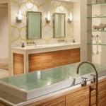 Оформление ванной комнаты.