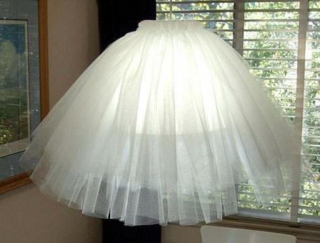 потолочный светильник из тюля