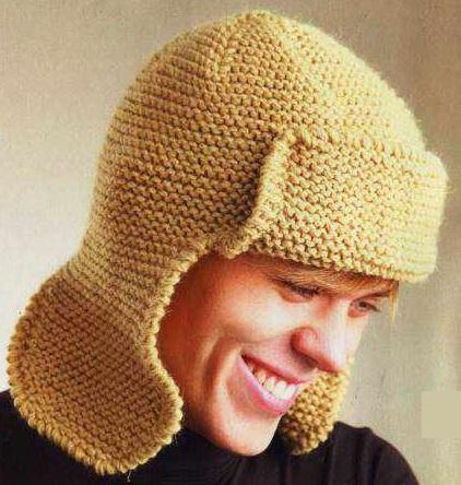 шапка ушанка крючком