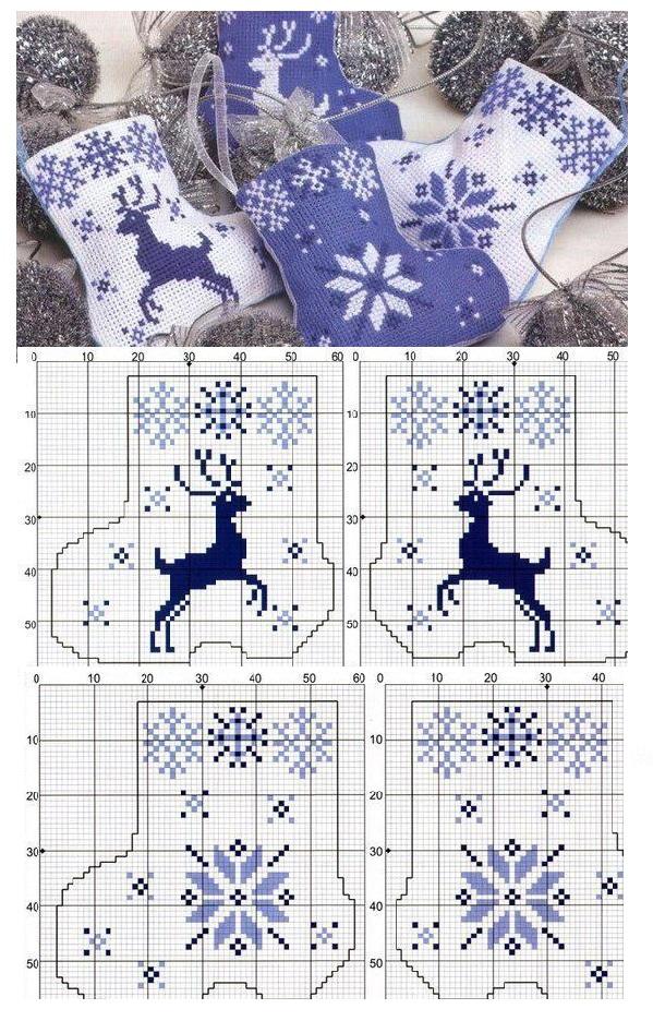 Зимние узоры для вязания и