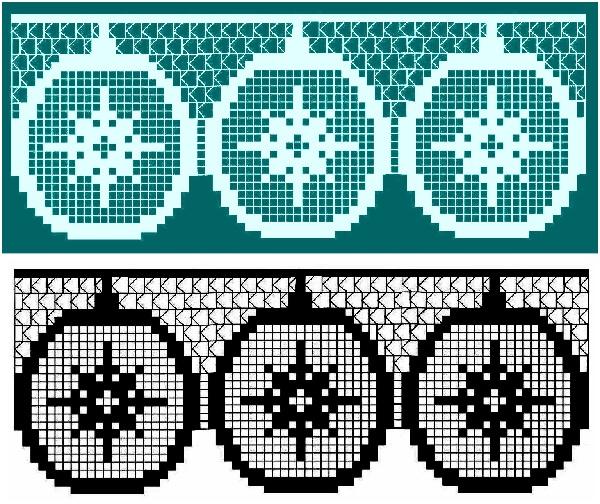 узор для вязания - новогодние шары