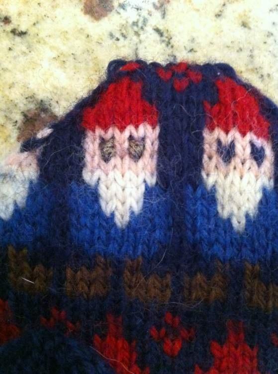 узор для вязания - дед мороз