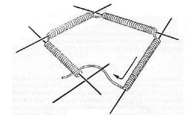 круговое вязание спицами, невидимое соединение