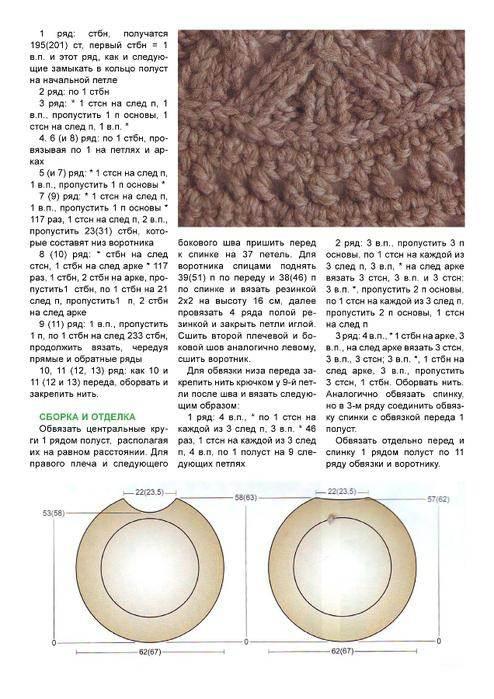 накидка-пончо связанная спицами