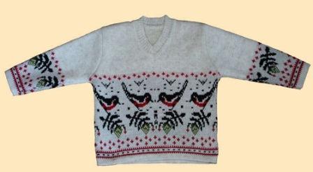 """орнамент """"снегирь"""", схемы для вязания"""