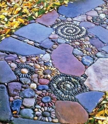 садовые дорожки из гальки
