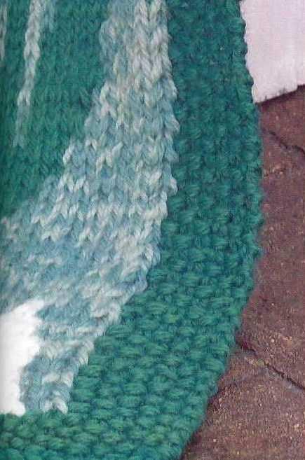 жаккардовый плед, вязание спицами