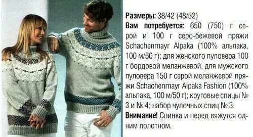 Шикарный свитер с норвежским орнаментом.