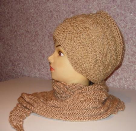 вязаная,женская,шапочка,ободок,спицами