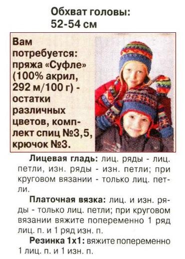 вязаные шапки для детей спицами