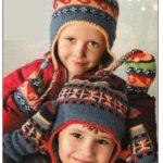 Вязаные шапки для детей спицами. Жаккард.