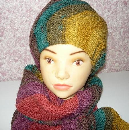 женская,шапочка,шарф,дропс,спицами