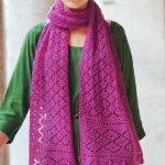 Ажурный женский шарф спицами