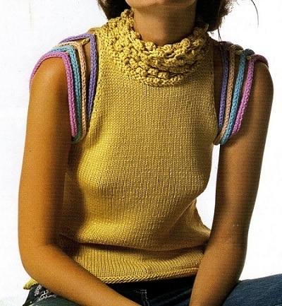 топ, для, женщин,вязание, спицами