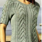 Летний пуловер с косами
