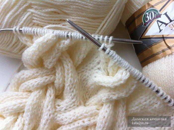 снуд,спицами,вязание,рукоделие,описание,подробно,пошагово,фото